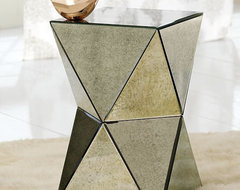 Faceted Mirror Side Table contemporary-side-tables-and-end-tables