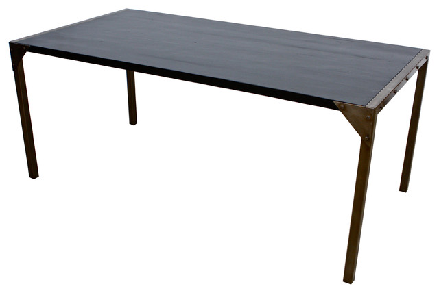 Dining table wood dining table with metal legs for Dining table with metal legs