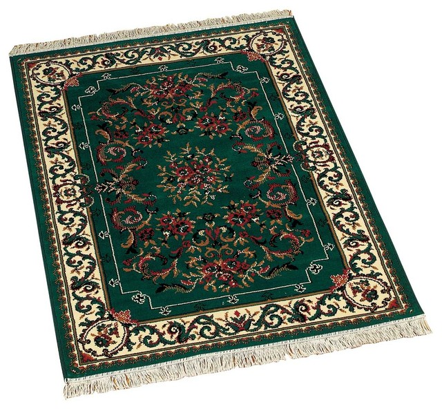 Rugs Hunter Green Polypropylene Rug 3ft. 11in. x 5ft. 7in. - Traditional - Rugs - by The ...