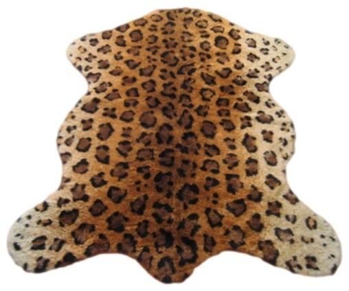 Faux leopard skin pelt rug 40 x55 rustic rugs by - Faux animal skin rugs ...