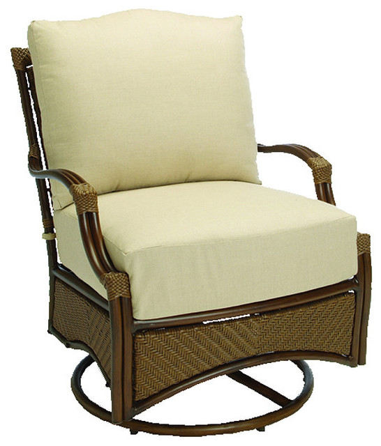 St Croix Swivel Outdoor Glider with Cushions Patio