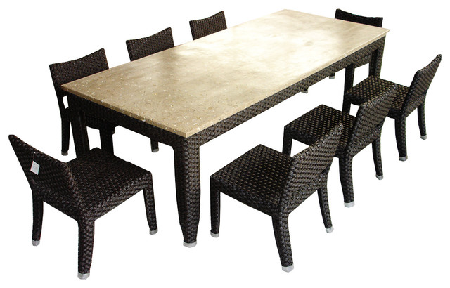 Imanem Dining Set 8 Seater Traditional Outdoor