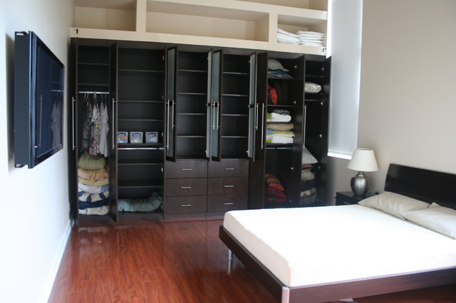 Built In Closet traditional-bedroom