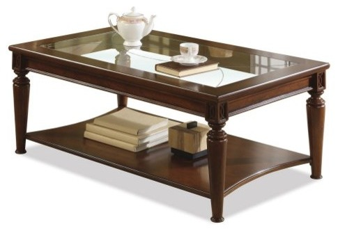 Pin traditional glass top center table on pinterest Traditional coffee table