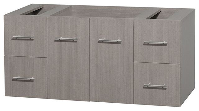 Centra Bathroom Vanity in Grey Oak,No Top,No Sink,No Mir modern-bathroom-vanities-and-sink-consoles