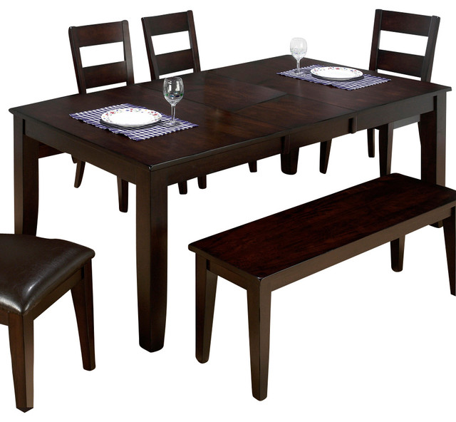 Jofran Dark Rustic Prairie Butterfly Leaf Dining Table Traditional Dining