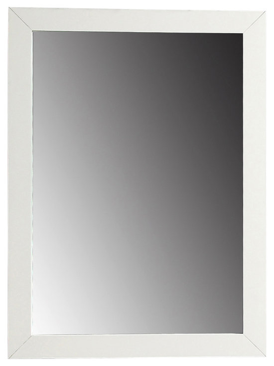 "Simpli Home - Winston White Bath Vanity Mirror - The Simpli Home 20"" x 30"" Winston Vanity Mirror is designed to match our Winston Collection Vanities.  The mirror matches the contemporary style of the collection and is finished in a white finish."