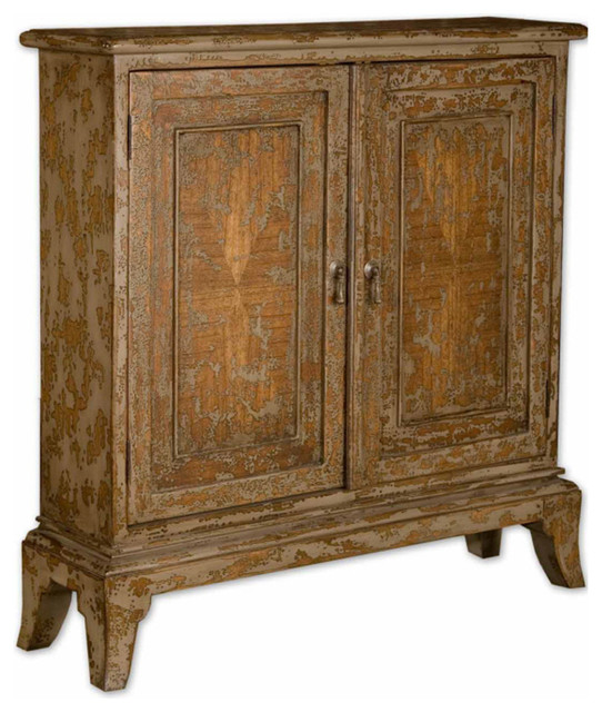 Uttermost Maguire Console Cabinet in Warm Oatmeal contemporary-console-tables