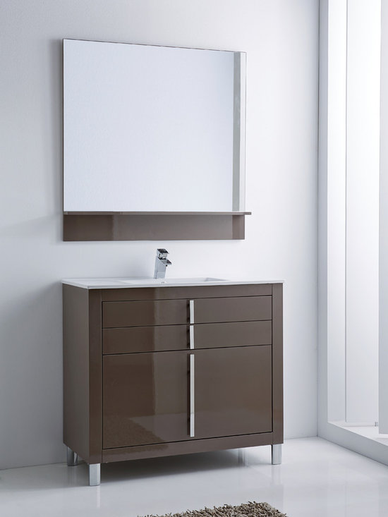 Macral Global Group - Macral Roma 39 and 1/4 inches.Bathroom Vanity. Taupe. -
