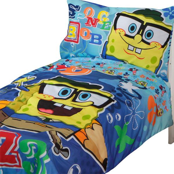 Spongebob Squarepants Toddler Bedding Set 123 School modern-kids-bedding