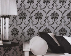 Classic Silk Damask Wallpaper traditional-wallpaper