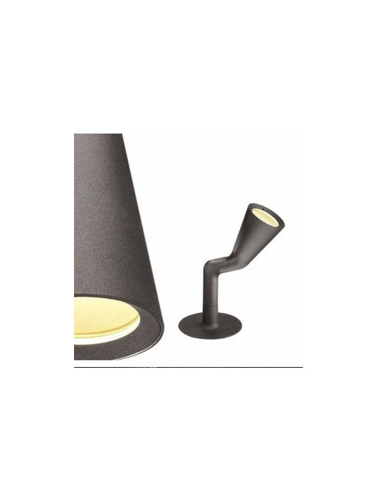 Belvedere Spot Single Floor Lamp By Flos Lighting - The Belvedere Spot Single by Flos is the family of exterior Lighting devices consisting of one suitable for floor installations (tiled or land floor) and with remote power box; also available version with base and with stake, both solutions are characterized by the absence of embedded box.