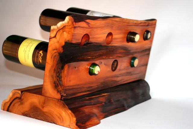 Counter top wine rack Yew Wood - Eclectic - Wine Racks - vancouver ...