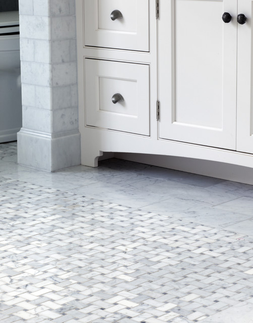 Basket Weave Floor Tile Wall And Floor Tile New York By Point One Architects