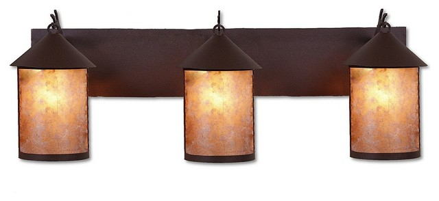 Rustic cascade triple bath vanity light eclectic Rustic bathroom vanity light fixtures