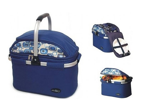 Curved-Top Aluminum Framed Picnic Cooler Basket by Picnic Fun -