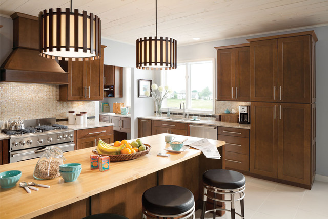 Mission Cherry Chocolate contemporary-kitchen-cabinets
