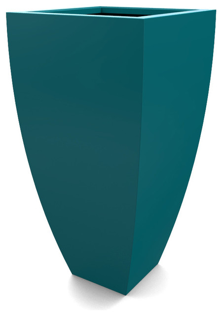 Blue ceramic table lamps - Large Corby Planter Teal Contemporary Outdoor Pots And Planters