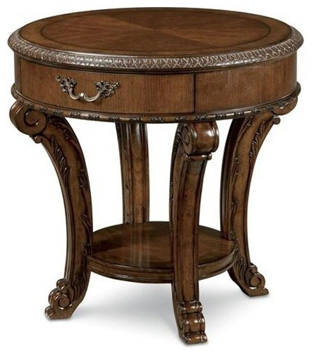 Art furniture old world round end table art43303 traditional coffee tables salt lake Traditional coffee tables and end tables