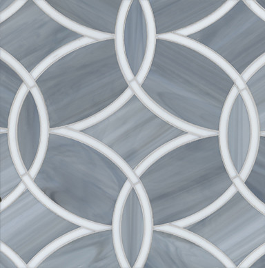 Beau Monde Mosaic Glass Tile eclectic kitchen tile
