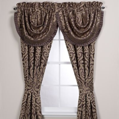 J Queen New York Luxembourg Window Valance Contemporary Curtains By Bed Bath Beyond