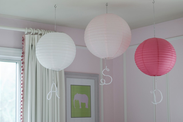 Pink and White Nursery traditional