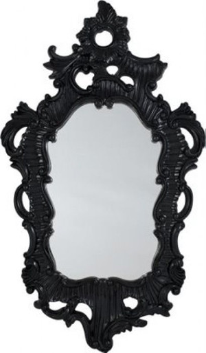 Black Lacquer Baroque Mirror traditional mirrors