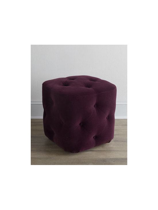 Horchow - Dixon Cube Ottoman - Exclusively ours. Small in size but big in appeal, this cube ottoman features button tufting on the top and sides. Slide a pair of them under a console to always have extra seating at the ready. And it comes in your choice of colors, which makes it ev...