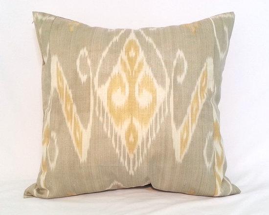 ikat pillow covers, ikat, ikat cushion, yellow ikat, blue ikat, red ikat, ikat - ikat pillow cover
