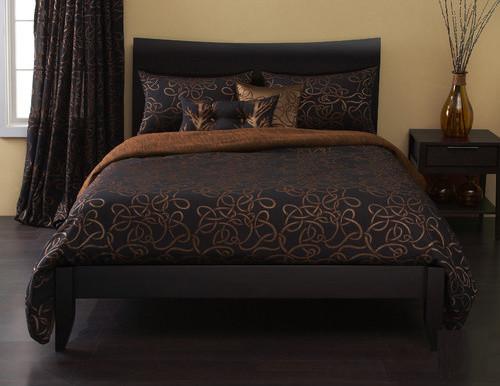 Twisty Vine Duvet Set in Copper modern-duvet-covers