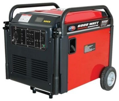 Portable Generator: All Power. 5,000-Watt Gasoline Powered Digital Inverter with contemporary-cable-management