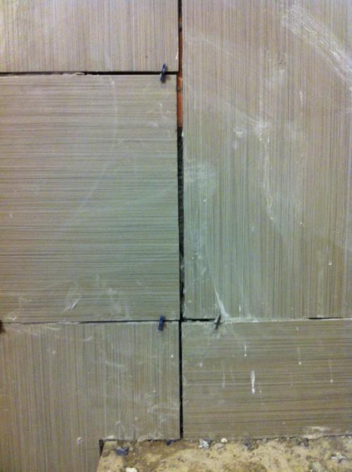 Bathroom Tile Jobs : Is this a bad tile job