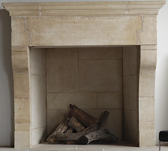 Re-Edition Chalais Fireplace contemporary-indoor-fireplaces