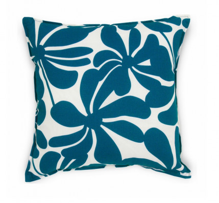 Modern Blue Outdoor Pillows : Modern Blue Floral Indoor Outdoor Pillow - Contemporary - Decorative Pillows - by 5 Surry Lane