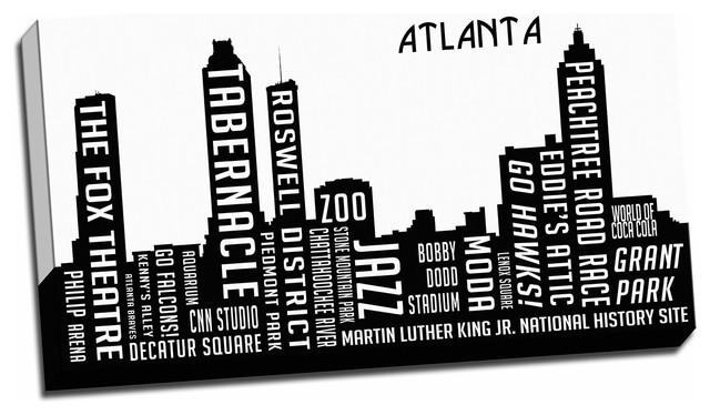 City Skyline Art Atlanta Contemporary Prints And