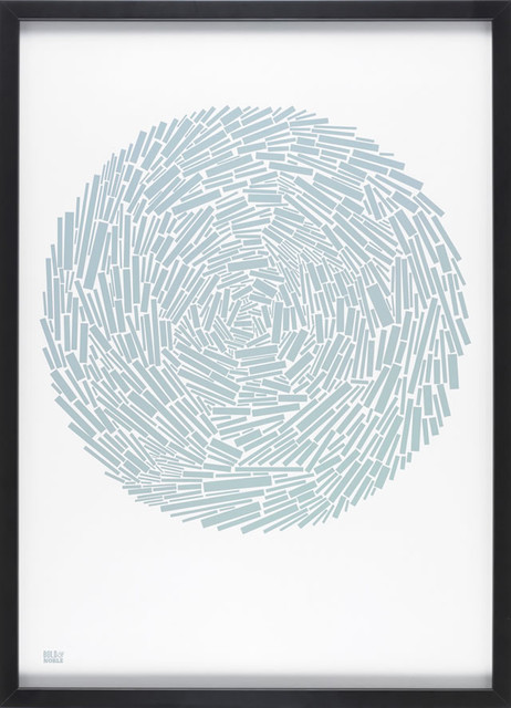 Nest in Duck Egg Blue modern-prints-and-posters