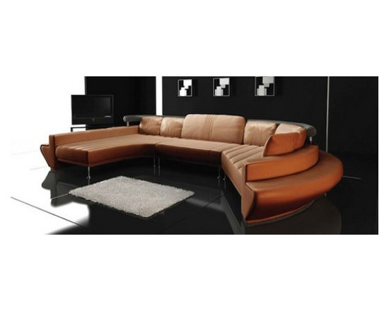 LOOSE FURNITURES - CURVED SOFA / LEATHER