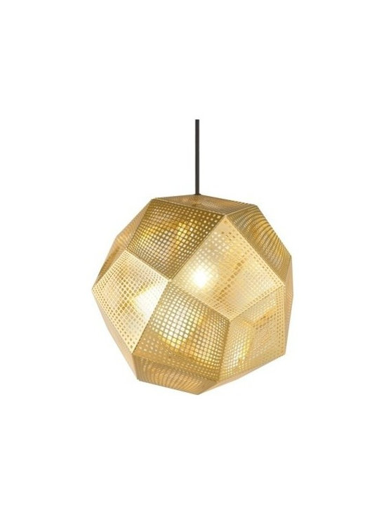 Etch Shade Brass Pendant Lamp by Tom Dixon - ·Tom Dixon is a British design and manufacturing company of lighting and furniture. With a commitment to innovation and a mission to revive the British furniture industry, the brand is inspired by our nation's unique heritage. Tom Dixon launches new collections annually with products sold more than 60 countries.