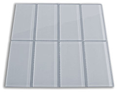 Ocean Glass Subway Tile 3 x 6 modern kitchen tile