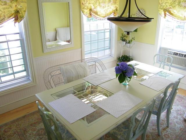 beadboard in dining room | beadboard