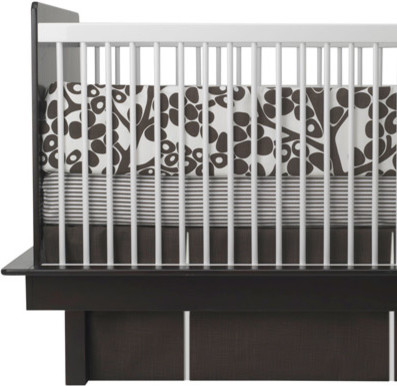 Oilo Crib Bedding Set Modern Berries Brown modern baby bedding