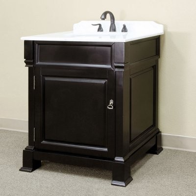 Bellaterra Calabria 30-in. Espresso Single Bathroom Vanity with Optional Mirror contemporary bathroom vanities and sink consoles
