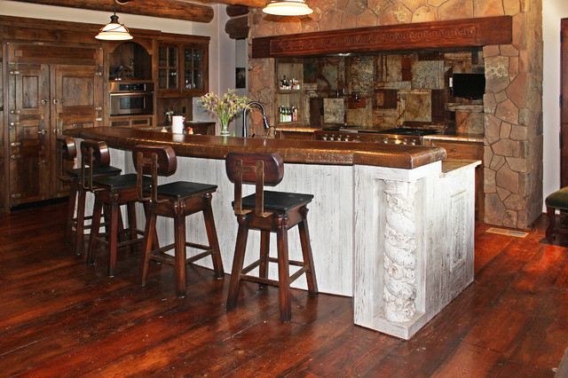 San Miguel Build - The Kitchen rustic-kitchen-islands-and-kitchen-carts