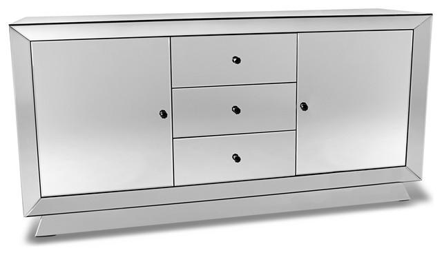 Azul All Glass Mirrored Dresser Contemporary Dressers By Zuri Furniture