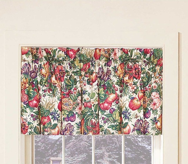 ... Polyester Valance Flower/Fruit/Bird 20'H x 49'W traditional-curtains