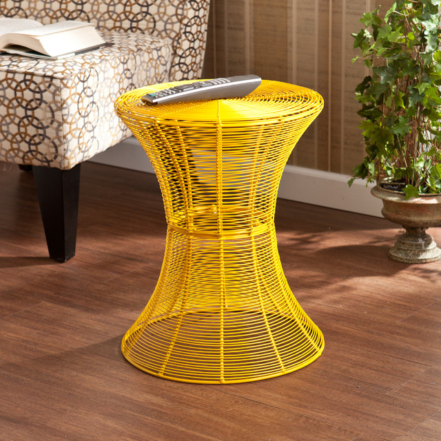 outdoor yellow metal accent table contemporary side tables and end