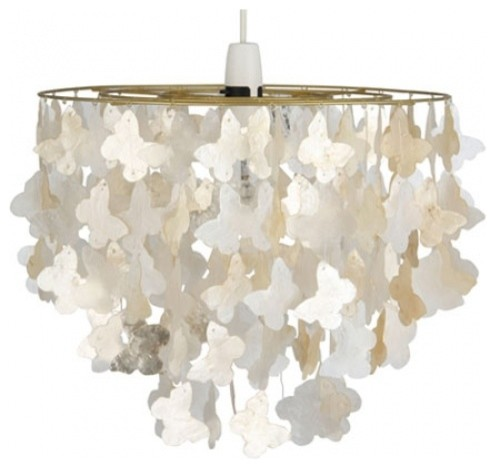 capiz butterfly pendant shade contemporary pendant