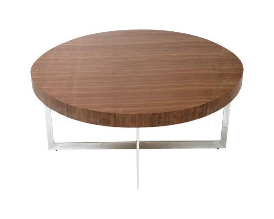 Oliver Coffee Table in Walnut / Chrome -