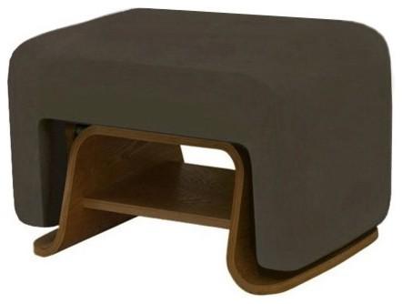 Nurseryworks Cole Ottoman - Slate/Dark Legs contemporary-footstools-and-ottomans