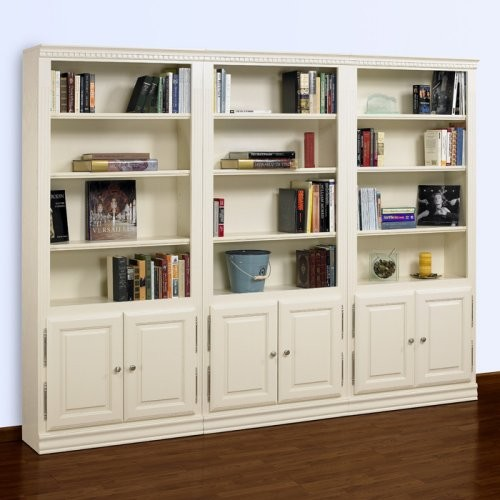 White Bookcase with CabiDoors 500 x 500